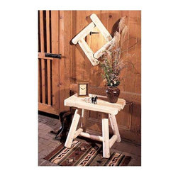 """Rustic Cedar - Cedar End Table in Light Finish - Create plenty of ample resting space for drinks, snacks, or other outdoor amenities with this charmingly rustic-styled end table which will ideally match other Cedar construction chairs and tables.  Its austere design allows it to look great on any patio or outdoor spot. * Create plenty of ample resting space for drinks, snacks, or other outdoor amenities with this charmingly rustic-styled end table which will ideally match other Cedar construction chairs and tables.. Its austere design allows it to look great on any patio or outdoor spot.. 24"""" H x 17"""" W x 27"""" L"""