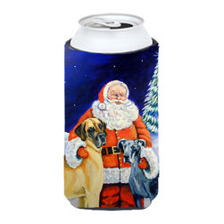 Caroline's Treasures - Santa Claus with Great Dane Tall Boy Koozie Hugger - Santa Claus with Great Dane Tall Boy Koozie Hugger Fits 22 oz. to 24 oz. cans or pint bottles. Great collapsible koozie for Energy Drinks or large Iced Tea beverages. Great to keep track of your beverage and add a bit of flair to a gathering. Match with one of the insulated coolers or coasters for a nice gift pack. Wash the hugger in your dishwasher or clothes washer. Design will not come off.