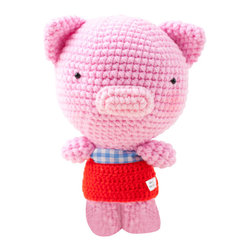 2 cute 2 be true - Pepe Piglet - Handmade Crochet Soft Toy - This little piggy won't cry all the way coming to your home. Hand-crocheted and delightfully decorated, the colorful and soft toy is an ideal companion for your little one.