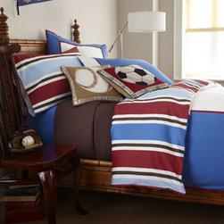 "Pine Cone Hill - Pine Cone Hill Twin Herringbone Matelasse Coverlet, 60"" x 90"" - These red, white, blue, and brown bed linens are a style that works for toddlers to teens. And they're reversible! Sets include duvet cover, standard sham, fitted sheet, and pillowcase(s), all of 220-thread-count cotton sateen. Machine wash. Imported. B..."