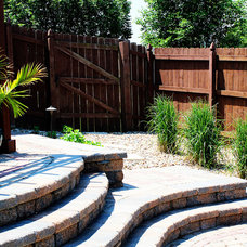 Eclectic  Paved Patio and Arbor