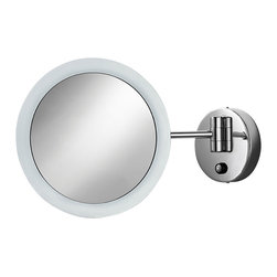 WS Bath Collections - Mirror Pure Mevedo Twistable Magnifying Mirro - Makeup Magnifying Mirror. Twistable. Magnification 3 Times. Solid Brass Construction. Made by Lineabeta of Italy. Finish/Color: Polished Chrome. Dimensions: 9 in. Diameter