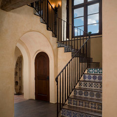 mediterranean staircase by Rachel Mast Design