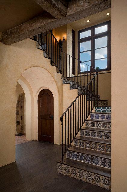 Mediterranean Staircase by Rachel Mast Design
