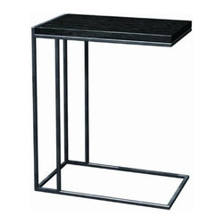 TFG Furniture - Wabash C-Table - Our virtual and stylish Ogden C-Table by TFG has a thinner profile frame perfect for smaller spaces. It's the answer to side table, laptop stand, or the modern replacement for tv trays. No assembly required.