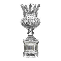 """Waterford Crystal - Waterford Crystal Reginald Tower Pedestal Vase 24"""" 164536 - Waterford Crystal Reginald Tower Pedestal Vase 24"""" 164536  -  Size: 24  -  Don't Buy From An Unauthorized Dealer  -  Genuine Waterford Crystal  -  Fully Authorized U.S. Waterford Crystal Dealer  -  Stamped With The Waterford Seahorse Symbol Of Excellence  -  Waterford Crystal UPC Number: 024258526655  -  John Connolly 50Th Anniversary Collection"""