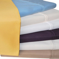 Bed Linens - Cotton Rich 1000 Thread Count Solid Sheet Sets Full Plum - A superior blend of materials makes these sheets soft, easy to care for and wrinkle resistant. Enhance any bedroom decor with this 1000 thread count Cotton Rich sheet set. Each sheet set is made of 55% Cotton and 45% Polyester.  (Matching Duvet Cover Sets Sold Separately)!