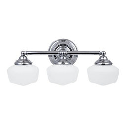 Sea Gull Lighting - Sea Gull Lighting 44438BLE Academy 3 Light Energy Star Bathroom Vanity Light - Features: