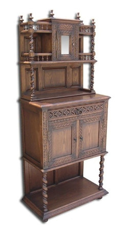 EuroLux Home - New Side Cabinet Oak Gothic Oak Barley Twist - Product Details