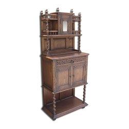 EuroLux Home - New Side Cabinet Oak Gothic Oak Barley Twist - Product Details