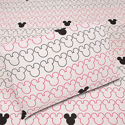Iconic Mickey Mouse Sheet Set - I like that this Mickey Mouse–inspired sheet set pays tribute to the iconic mouse without blatantly huge in-your-face designs. The outlines are simple yet stylish.