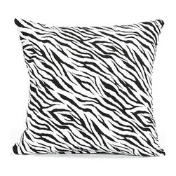 "BH Decor - Black & White Zebra Throw Pillow Cover, 20""x20"" - - 100% cotton"