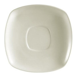 CAC China - 6 inch White Square Saucer - Case of 36 - C.A.C. China provides durable dinnerware at all levels including super white porcelain, fine bone china, American white china, colored glaze china, and Asian style china. C.A.C China offers a variety of innovative shapes from square rectangular triangular wavy to round that will brighten up any table. All C.A.C China products are oven microwave and dishwasher safe.