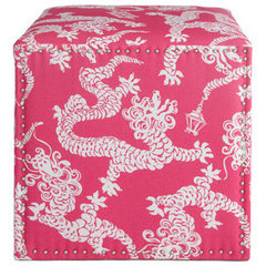 eclectic ottomans and cubes by Neiman Marcus