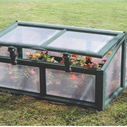 Lia K - Genesis Cold Frame Seed Starte - The Riverstone Genesis Line of Cold Frames allows the avid gardener the opportunity to start gardening while there is still a chance of frost. The portable unit protects crops from unwanted animals and pests during the critical seedling stages.