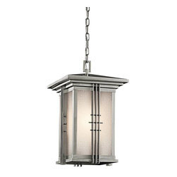 Kichler - Kichler Portman Square Outdoor Chain Hung Lighting Fixture in Steel - Shown in picture: Outdoor Pendant 1Lt in Stainless Steel