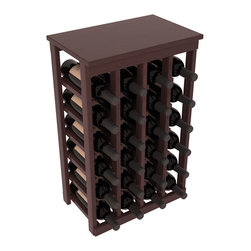 Wine Racks America - 24 Bottle Kitchen Wine Rack in Premium Redwood, Walnut Stain + Satin Finish - Petite but strong, this small wine rack is the best choice for converting tiny areas into big wine storage. The solid wood top excels as a table for wine accessories, small plants, or whatever benefits the location. Store 2 cases of wine in a space smaller than most televisions!