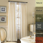 Brielle - Dupioni Pure Silk-lined Pinch Pleat Curtain Panel - Give your space a refreshed, refined look with this silk Dupioni grommet curtain panel. Featuring a rod pocket design, a cotton and polyester lining, this panel is energy saving and comes in a variety of colors to complement any decor.