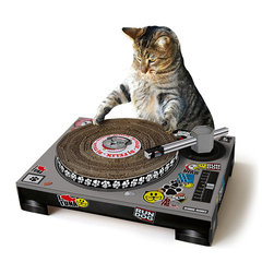 DJ Cat Scratching Pad - DJ Cat is in the house with this hilarious scratching pad.