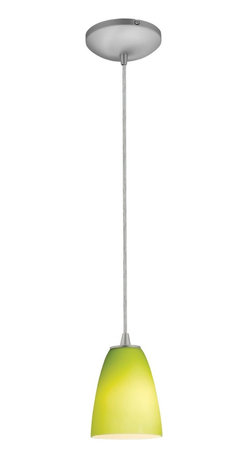 Access Lighting - Access Lighting 28022-2C-BS/LGR Tali Inari Silk 18W CFL Contemporary Cord Mini P - Elegant lime-green light brings a colorful and vibrant accent to any traditional or modern setting.