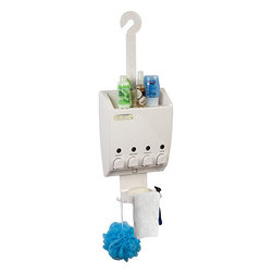 Ulti-Mate Dispenser 4 White Shower Caddy - The Ulti-Mate Dispenser offers one of the most innovative, attrative and practical solutions to de-clutter your shower areas!