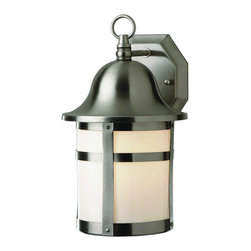 """Trans Globe Lighting - Trans Globe Lighting PL-4581 BN ES Pub 16"""" Outdoor Wall Light - A strapping outdoor landscape wall light with curved bell cap and top ring. Looks great in English outdoor gardens, equestrian areas, or traditional paths. Uses GU24"""