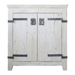 Native Trails - Native Trails Americana Vanity, Whitewash - *Crafted from recycled wood for exceptional strength