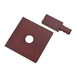 Hampton Bay Oil-Rubbed Bronze Live-End Power Feed with Cover Plate for Linear Tr