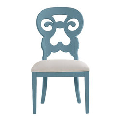 Stanley Furniture - Coastal Living Cottage Wayfarer Side Chair - Wave Finish - Like the old bistro chairs outside the coastal candy shoppe, these cut-back chairs bring an easy smile to any table. Upside down heart motif gives a kiss to your lower back, while the open top section is perfectly sized to fit your palm. Made to order in America.