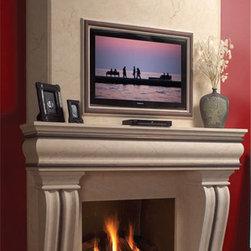 "Tuscan stone fireplace overmantel - ""omega cast stone fireplace mantle"""