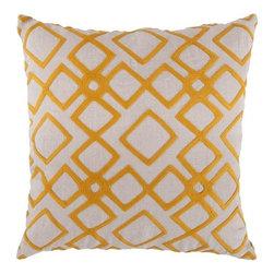 "Surya - Surya 18 x 18 Decorative Pillow, Tangerine and Peach Cream (COM016-1818P) - Surya COM016-1818P 18"" x 18"" Decorative Pillow, Tangerine and Peach Cream"
