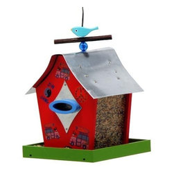 Rosso's International - Retro Chic Feeder Woodstock - Our bird feeders are fully functional and the roofs are made of galvanized steel.