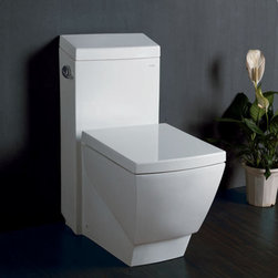 """Fresca - Fresca FTL2336 White Apus Apus 1.6 GPF One-Piece Elongated Toilet with - Apus 1.6 GPF One-Piece Elongated Toilet with Stain Resistant Polish and Included Seat The Apus elongated, one-piece toilet features an elegant, sophisticated design, that is both comfortable look at and to sit on. This toilet features a low consumption single flushing system (1.6gpf). It also features a fully glazed inner trapway and comes with a stain resistant polish making it easy to keep clean. Features:  UPC / ADA Approved Single Flush (1.6gpf) Soft Close Toilet Seat Included Bowl Type: Elongated High Quality Stain Resistant Polish w/ Fully Glazed Trapway  Specifications:  Dimensions: 27""""L x 15""""W x 31-3/4""""H Trap Distance: 12"""" (Drain w/ Trap Included)"""