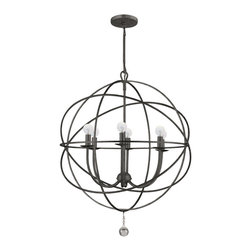 Crystorama - Solaris Modern 6-light Up Lighting Chandelier - The movement in this fixture reminds us of a galaxy far, far away, and yet we get to enjoy this with our feet firmly planted right here on Earth.