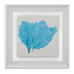Bassett Mirror - Bassett Mirror Framed Under Glass Art, Sea Fan IV - Sea Fan IV