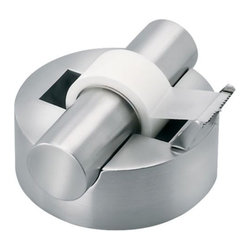 Blomus - AKTO Tape Dispenser by Blomus - The Blomus AKTO Tape Dispenser provides even dispensing of tape in a design that adds an element of sophistication to desktops. The AKTO Tape Dispenser, designed by J.R. Schebendach, features durable stainless steel.