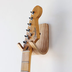 Guitar Hook - Music lovers and design lovers on your list will go crazy for this awesome wooden guitar hook.