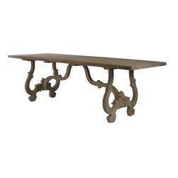 French Country Dining Table - Can you see this in a big white kitchen? It could sit in front of the counter as additional prep space, a place to toss a magazine or to eat a light breakfast.