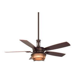 Fanimation Fans - Andover Ceiling Fan by Fanimation Fans - The Fanimation Andover Ceiling Fan, an impressively styled fixture, enhances interior space with its layer of accent lighting and great engineering that circulates air with smooth and silent operation. The Andover Fan features three forward and three reverse fan speeds, reversible blades with Cherry color on one side and Walnut color on the other, and a motor with a limited lifetime warranty.Fanimation, an acknowledged ceiling fan industry leader, creates and produces refreshingly innovative ceiling fans for a wide variety of venues. Fanimation's founder, Tom Frampton, who began Fanimation in his Indiana garage, travels the world for inspiration. The Fanimation Andover Ceiling Fan is available with the following:Included Features:One glass diffuser.Five reversible Cherry/Walnut blades.TR24 Hand-held Remote Control with three fan speeds and light controls with wall mount.Canopy receiver unit.Three forward and three reverse speeds.Reversing switch on fan housing.Ceiling canopy is suitable for installation on flat ceilings and ceilings with up to a 30 degree slope.One 6 in. and one 12 in. downrod.Decorative downrod sleeve.54 in. overall diameter.14 degree blade pitch.80 in. lead wires.Limited lifetime motor warranty.UL Listed for dry locations.Options:Finish: Oil Rubbed Bronze with Amber Glass Diffuser (shown) or Pewter with Opal Glass Diffuser.Lighting: Three 40 Watt 120 Volt Candelabra Base Incandescent lamps (included).Sold Separately:Additional downrod lengths.Slope Ceiling Hanger Ball SCB152.Shipping:Orders placed by 11am PT Monday - Friday will ship within 24 hours. Orders received after 11am PT will ship next day. Orders received after 11 am on Friday through Sunday will ship the following Monday.   This item is available only in the US.
