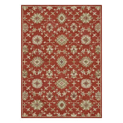 "Loloi Rugs - Loloi Rugs Fairfield Collection - Persimmon, 7'-6"" x 9'-6"" - �Updated traditional' may seem like the perfect paradox, but that's exactly the style you can expect from the Fairfield Collection. These classic designs have been refashioned to feature narrower borders and less ornate pattern for a look that's timely, yet timeless. And while your eyes admire the design and colors, your feet will thank you for the feel of thick, all wool pile. Hand-tufted in India, Fairfield rugs are a new classic for today."