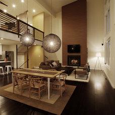 Modern Living Room by Kraig Kalashian