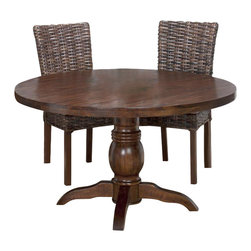 Jofran - Jofran 733-52 Urban Lodge Round Pedestal Dining Table in Rustic - Materials: solid Asian hardwood