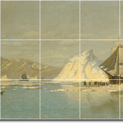 Picture-Tiles, LLC - Off Greenland Tile Mural By William Bradford - * MURAL SIZE: 18x30 inch tile mural using (15) 6x6 ceramic tiles-satin finish.