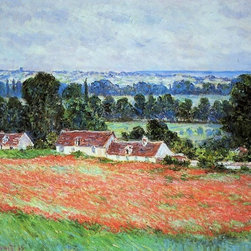 "Claude Oscar Monet Poppy Field at Giverny - 16"" x 20"" Premium Archival Print - 16"" x 20"" Claude Oscar Monet Poppy Field at Giverny premium archival print reproduced to meet museum quality standards. Our museum quality archival prints are produced using high-precision print technology for a more accurate reproduction printed on high quality, heavyweight matte presentation paper with fade-resistant, archival inks. Our progressive business model allows us to offer works of art to you at the best wholesale pricing, significantly less than art gallery prices, affordable to all. This line of artwork is produced with extra white border space (if you choose to have it framed, for your framer to work with to frame properly or utilize a larger mat and/or frame).  We present a comprehensive collection of exceptional art reproductions byClaude Oscar Monet."
