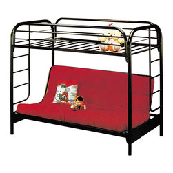 Yuan Tai - Twin Over Full Futon Bunk Bed - NOTE: ivgStores DOES NOT offer assembly on loft beds or bunk beds. Futon frame. Warranty: Six months limited. Made from metal. Assembly required. 78 in. L x 54 in. W x 60 in. H (137.5 lbs.). Bunk Bed Warning. Please read before purchase.Yuan Tai is the premier importer or distributor of an extensive line of home furnishings, ranging from bedroom, dining and living room furniture, occasional tables, lamps and accent pieces.