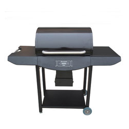 Smoke-N-Hot - Smoke-N-Hot Pellet Pro Grill, Black Powder Coated - -ProGrill Digital Controls - Standard! Fully automatic control your grill from a smoking low of 180 to a Smoking Hot sear of 600 with just the push of a button. Now with easy to read blue LED lighting.