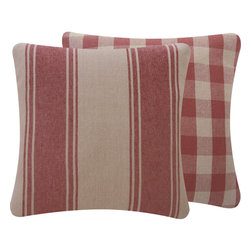 Chloe & Olive - Ralph Lauren Home Throw Pillow in Italian Linen, Red, 18x18 - Take a step back to the classics with this stunning vintage-style decorative pillow. Made from Ralph Lauren italian linen, the timeless elegance of this design will accentuate any room in your house. Ralph Lauren fabrics are woven by skilled artisans around the world, ensuring that they are of heirloom quality.