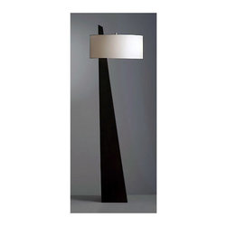 Nova Lighting - Nova Lighting 11891 63 Inch Transitional Floor Lamp - 63 Inch Transitional Floor Lamp with White Linen Shade from the Obelisk CollectionFeatures: