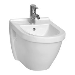 Vitra - Showy Round Ceramic White Wall Mount Bidet - Add this luxury, contemporary bidet to your already modern personal bath.