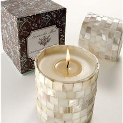 Tresors Des Mers Seashell Candle - The mother of pearl makes this candle stand out from the rest.